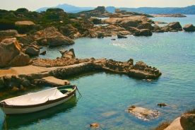 Jagged inlets of Northern Sardinia provide refuge for small boats.