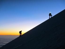 Dawn breaks on the ridge, Orizaba, Mexico