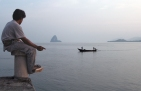 A fisherman waits for the day's catch in Ko Yao Noi, Thailand.